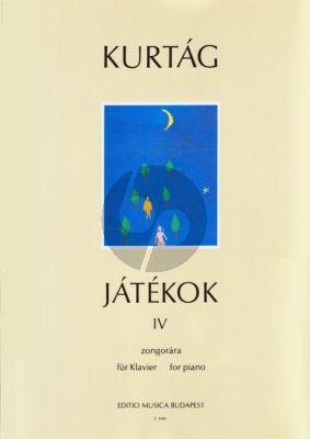 Kurtag Games (jatekok) Vol.4 Piano 4 hands and 2 Pianos (Jatekok)