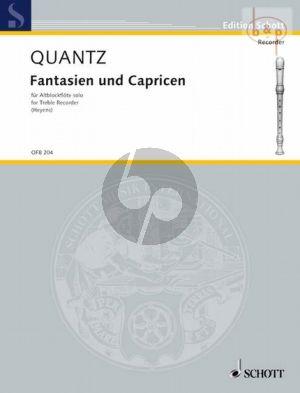 Quantz Fantasien und Capricen Altblockflöte solo (Gudrun Heyens)