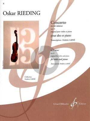 Rieding Concerto e-minor Op.35 Viola-Piano (transcr. Frederic Laine)