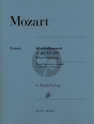 Mozart Concerto A-major KV 488 (Piano-Orch.) (piano red.) (Henle-Urtext)