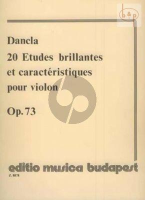 20 Etudes Brillantes Op.73 Violin