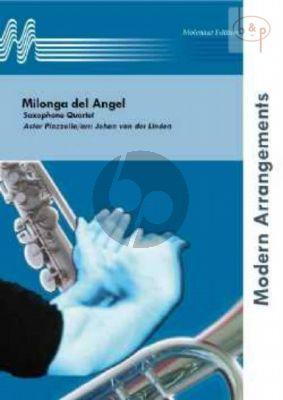 Milonga del Angel 4 Saxophones (SATB) (Score/Parts)