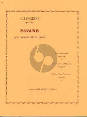 Liegeois Pavane Op.25 No.9 Violoncelle et Piano (No.9 des 15 morceaux faciles et progressifs Op. 25) Nabestellen
