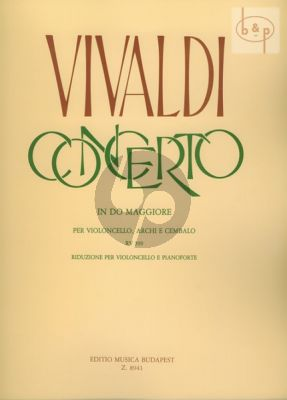 Concerto C-major RV 399 Violoncello.-Strings-Bc.