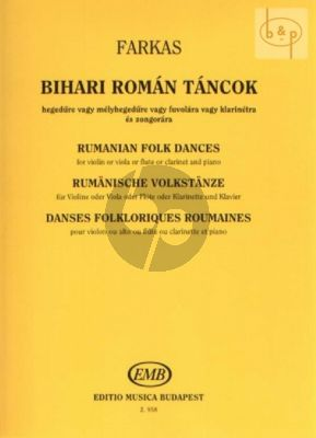 Rumanian Folk Dances from the Country of Bihar