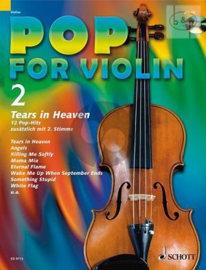 Pop for Violin Vol.2 Tears in Heaven (12 Pop Hits with a 2nd. Violin) (Bk-Cd)
