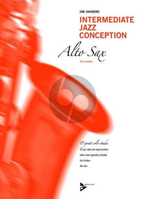 Snidero Intermediate Jazz Conception Alto Saxophone (15 Solo Etudes for Jazz Style and Improvisation) (Bk-Cd)