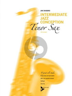 Snidero Intermediate Jazz Conception Tenor Saxophone (15 Solo Etudes for Jazz Style & Improvisation) (Bk-Cd)