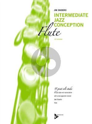 Snidero Intermediate Jazz Conception Flute (15 Solo Etudes for Jazz Style and Improvisation) (Bk-Cd)