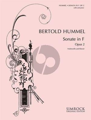 Hummel Sonata F-major Op. 2 Violoncello and Piano