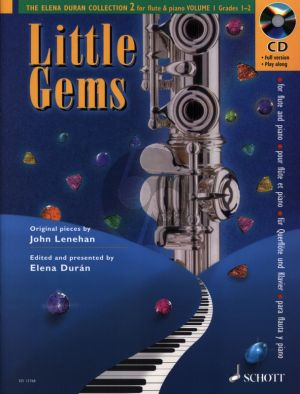Lenehan Little Gems for Flute and Piano (Bk-Cd) (The Elena Durán Collection 2) (Grades 1 - 2)