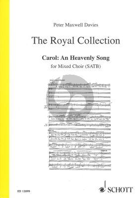 Carol: An Heavenly Song 2005 SATB-Organ (The Royal Collection)