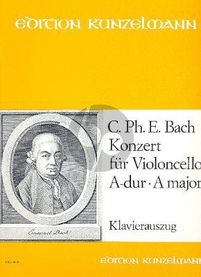 Bach Konzert No.3 A-dur (H.439/Wotq.172) Violoncello-Streicher-Bc (KA) (Kneihs)