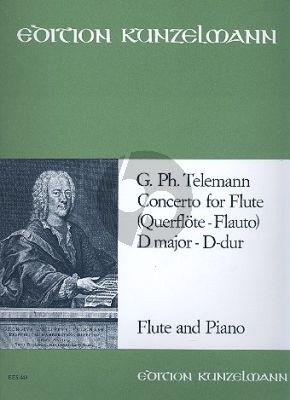 Telemann Konzert D-dur TWV 51:D2 Flöte-Streicher-Bc (KA)