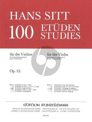 Sitt 100 Etuden Op.32 Vol.3 Violine (20 Etuden Lagenwechsel)
