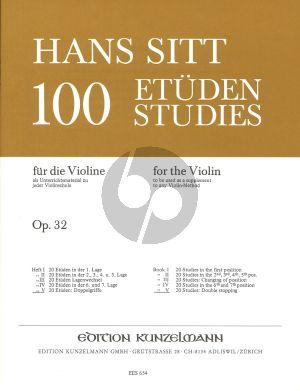 Sitt 100 Etuden Op.32 Vol.5 Violine (20 Etuden: Doppelgriffe)