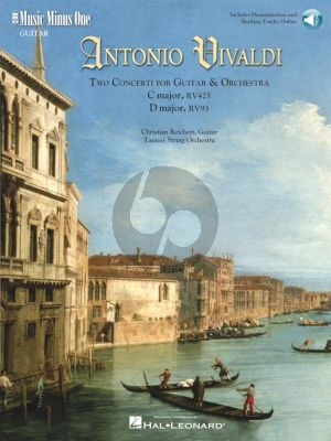 Vivaldi 2 Concertos C-Dur RV 425 & D-Major RV 93 Guiter (or Lute) and Orchestra (Bk- 2 CD DeLuxe Set) (MMO)