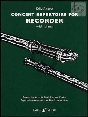 Concert Repertoire for Treble Recorder with Piano