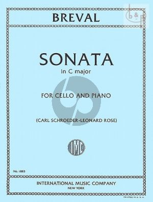 Breval Sonata C-major Violoncello-Piano (Schroeder-Rose) (IMC)