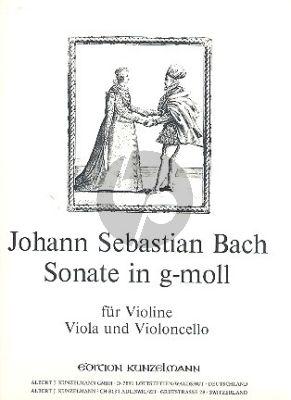 Bach Sonate g-moll No. 3 Violine-Viola und Violoncello (Stimmen) (Werner Thomas-Mifune)