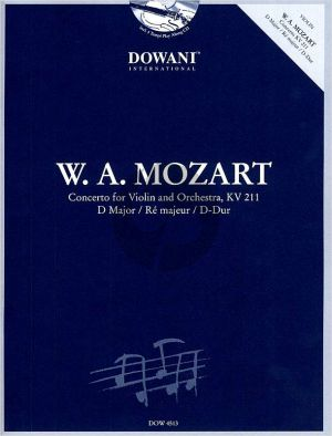 Mozart Concerto KV 211 D-Major Violin-Orch. (Bk-Cd) (Dowani)