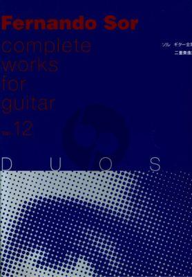 Sor Duos Vol.1 (Complete Works Vol.12) (Tokuoka)