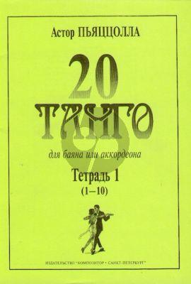 Piazzolla 20 Tangos Vol.1 (No.1-10)