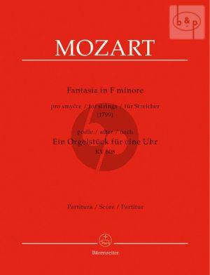 """Fantasia f-minor after """"Ein Orgelstuck fur eine Uhr"""" KV 608 arr. for Strings (Score)"""