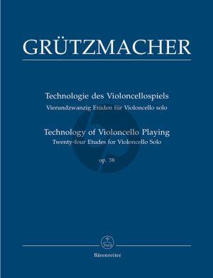 Grutzmacher Technology of Violoncello Playing Op.38 (24 Studies) (Martin Rummel) (Barenreiter)