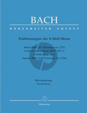 Bach Messe h-moll (Mass b-minor) BWV 232* (Version of 1733) (Soli-Choir-Orch.) (edited by Uwe Wolf) (Barenreiter-Urtext)