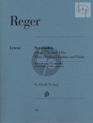 Serenaden Op.77A-Op.141A (Flute-Violin-Viola) (Parts) (Michael Kube)