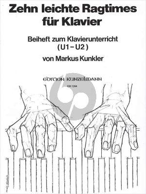Kunkler 10 Leichte Ragtimes Klavier