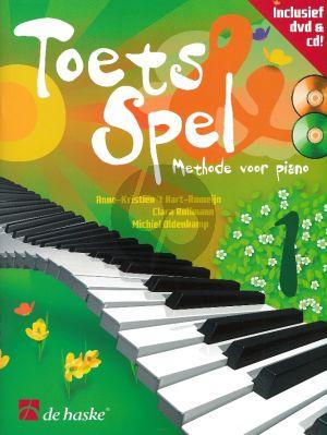Toets en Spel - Methode voor Piano Vol.1 (Bk-Cd-DVD) (medewerking C. Rullmann en M. Oldenkamp)