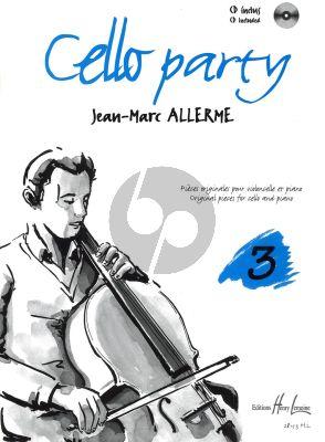 Allerme Cello Party Vol. 3 Violoncelle et Piano (Pieces Originales) (Bk-Cd)