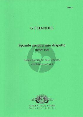 Handel Spande ancor a mio dispetto (Bass-2 Vi.-Bc) (Score/Parts)