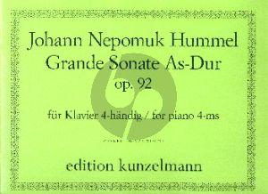 Hummel Grande Sonate As-Dur Op. 92 Klavier zu 4 Hd. (Werner Thomas-Mifune)