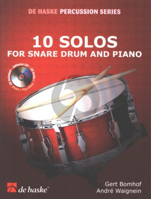 10 Solos for Snaredrum and Piano Accomp. (Bk-Cd) (Play-Along/Demo CD) (interm.level)