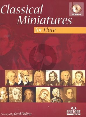 Classical Miniatures (Flute-Piano) (with Play-Along CD) (Bk-Cd)