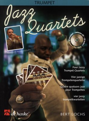 Lochs Jazz Quartets 4 Trumpets (Score/Parts) (Bk-Cd) (easy to interm.level)