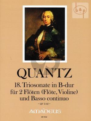 Triosonate B-dur QV 2:42 (2 Flutes[Fl./Vi.]-Bc) (Augsbach-Kostujak)