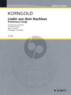 Korngold Lieder aus dem Nachlass Vol.1 (Medium Voice)