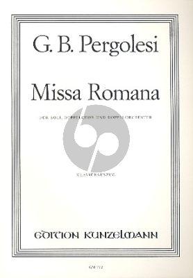 Pergolesi Missa Romana SATB soli-SATB/SATB chorus-Orch. Vocal Score