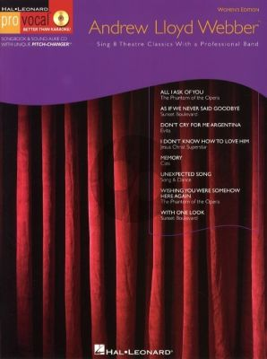 Lloyd Webber Pro Vocal Women's Edition Vol.10 (Bk-Cd) (Sing 8 Theatre Classics)