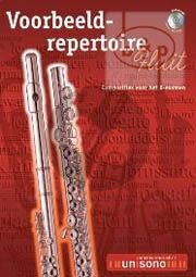 Voorbeeld Repertoire B-Examen (Flute-Piano with play-along CD) (Bk-Cd)