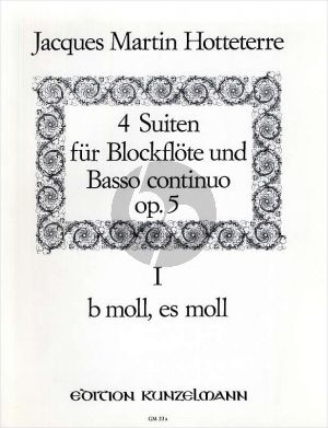 Hotteterre 4 Suiten Op.5 Vol.1 (No.1-2) Altblockflöte-Bc (Hans Maria Kneihs)