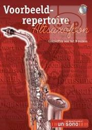 Voorbeeld Repertoire B-Examen (Alto Sax.-Piano with play-along CD) (Bk-Cd)