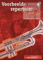 Voorbeeld Repertoire B-Examen (Trumpet-Piano with play-along CD) (Bk-Cd)