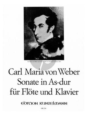 Weber Sonate As-dur Op.39 Flote und Klavier