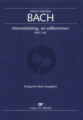 Kantate BWV 182 Himmelskönig, sei willkommen Soli-Chor-Orchester Klavierauszug