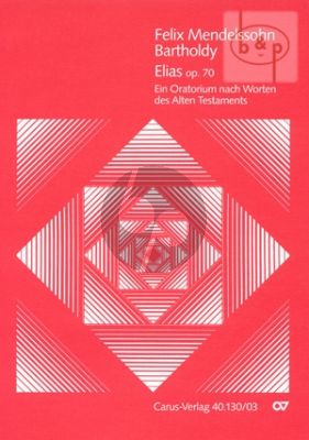 Elias Op.70 (Soli-Choir-Orch.) (Vocal Score)